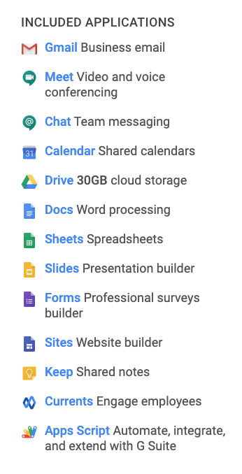 how much does g suite cost basic plan